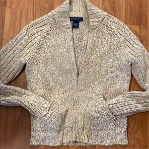 Vintage Abercrombie & Fitch Zip Front Mock Sweater